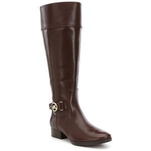 NEW Michael Kors Leather Wide Calf Knee boots